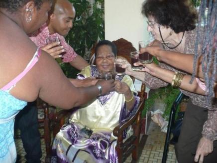 Lalita en su cumple 70