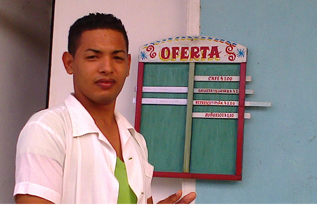 Maikel Izquierdo, joven cuentapropista