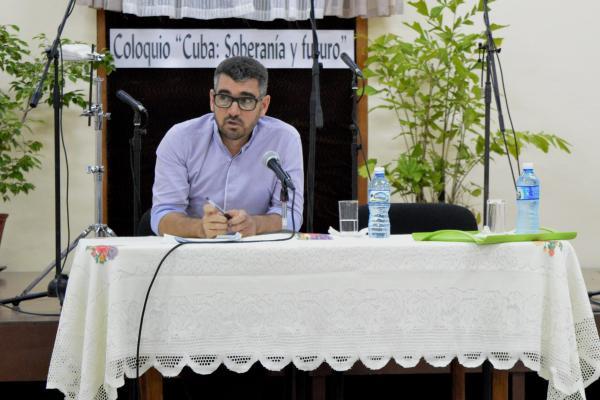 Julio Cesar Guanche, durante el evento. Foto tomada de IPS.