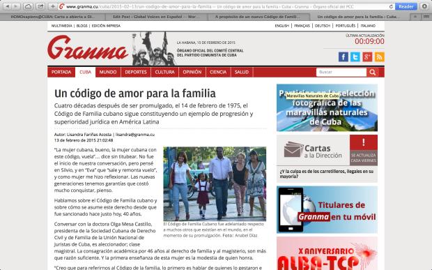 Artículo a partir del cual Alberto Roque escribe la carta abierta. Captura de pantalla por Sandra Abd´Allah-Alvarez Ramírez.